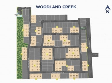 Woodland Creek Sitemap